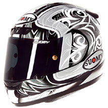 Suomy Men's Apex Lightweight Tornado Helmet Silver/Anthracite