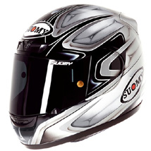 Suomy Men's Apex Lightweight Cool Silver Helmet