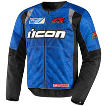 Icon Men's Overlord Textile GSX-R Jacket Blue