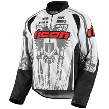 Icon Men's Hooligan 2 Threshold Jacket White